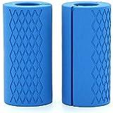 Ogquaton Barbell Dumbbell Grips Silicone Anti-Slip Protect Pad Intensify Avant-Bras Haltérophilie Fat Grip 1 Paire de Haute