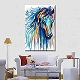 XIANRENGE Nordic Print Poster Malerei Aquarell Tier Pferd Moderne Abstrakte Leinwand Kunst Bilder Für Wohnzimmer Wohnkultur 40×60Cm