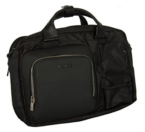 Borsa tracolla valigetta notebook uomo BIKKEMBERGS articolo 7ADD6302 DB-CITY BRI 0D3 Black / Black