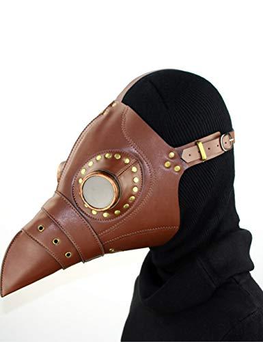 Teufel Kostüm Beängstigend Frauen - Horror Halloween, Steampunk Scharfen Mund Beängstigend Cosplay Zombie Teufel Pest Maskerade Party Kostüm Maske,A112