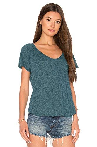 Blooming Jelly Frauen Top-Geöffnete Zurück geknotete Backless Kurze Hülse Dünne T-Shirt Grün