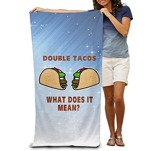xcvgcxcvasda Badetuch, Soft, Quick Dry, Badetuch, Soft, Quick Dry, Double Tacos Lightweight Large Swim Beach Towels