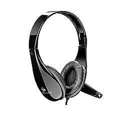 Zebronics ZEB-2200hmv Headphone Headset Dual 3.5mm Jack with Mic| Padded Earcups
