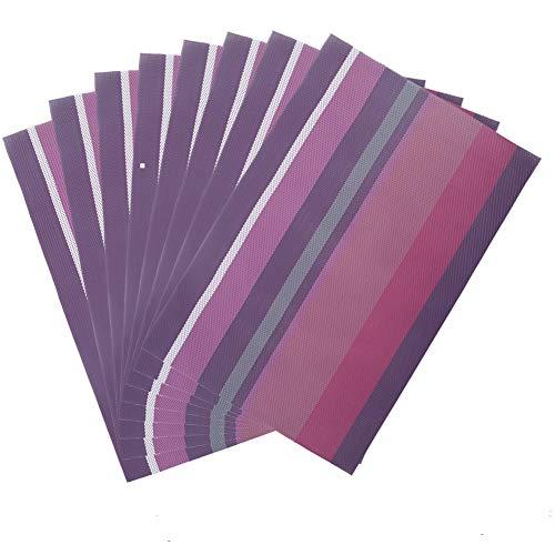 aspire Lot de 8 Sets de Table Durable hôtel Isolation Thermique Sets de Table, tissé, PVC, H Purple, Taille Unique
