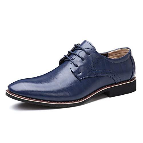 HhGold Männer Oxford Leder Formale Büro Klassische Kleid Schuhe Hochzeitsschuhe Business Schuhe (Farbe : Blau, Größe : 7 UK)