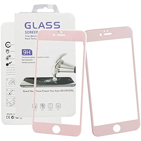 iPhone 6s plus,iPhone 6 plus 5.5 pulgadas protector,Asnlove 2 Set Protectora de Pantalla Cristal,Ultrafino Tempered Glass Protector de Pantalla de Vidrio Templado Screen Protector Dureza de Grado 9H,Espesor 0,3 mm-2.5D para Apple iPhone 6s plus Rosa Malla y