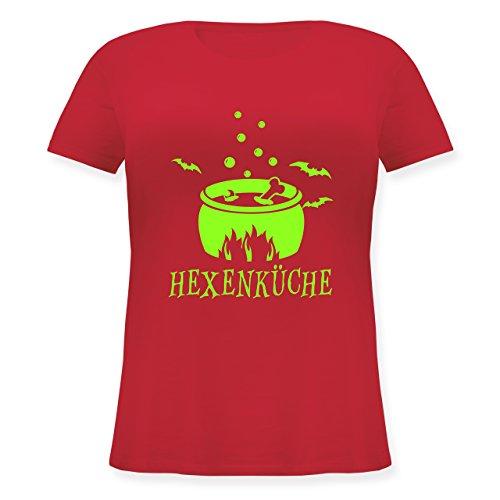 Küche - Hexenküche - S (44) - Rot - JHK601 - Lockeres Damen-Shirt in Großen Größen mit Rundhalsausschnitt