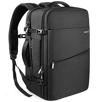 Inateck 30L Mochila de Viaje de Negocios de 15.6 Pulgadas para excursión del Fin de Semana, Bolsa de Mano Carry on Backpack aprobada por Vuelo, Negro