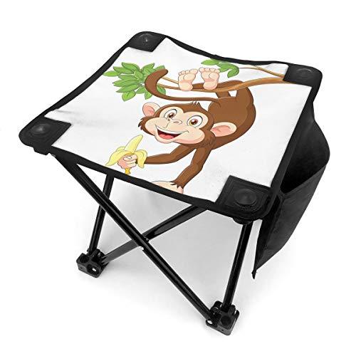 Nicokee Campingstuhl Klappstühle, AFFE zum Aufhängen von Baum, Banane, Dschungel, Tier, tragbarer Stuhl mit Tragetasche für Outdoor-Angeln, Sport, Wandern, Garten, Picknick, Strand, BBQ