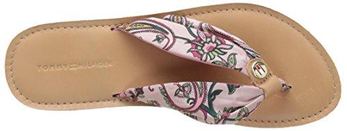 Tommy Hilfiger M1285onica 14d2, Sandales Bout Ouvert Femme Rose (Multi Colour Paisley 901)