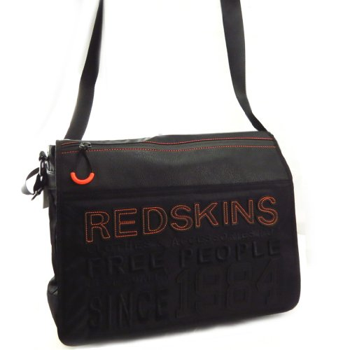 Redskins [K6263] - Besace 'Redskins' noir orange