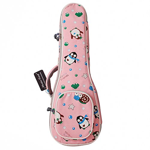 "Musik First Cotton Cartoon ""Pinguin"" Ukulele Fall Ukulele Bag Ukulele, New arrial, Original Design, beste Geschenk. 23 / 24 inch Concert pinguin"