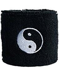 Schweißband Motiv Fahne / Flagge Ying und Yang schwarz + gratis Aufkleber, Flaggenfritze®