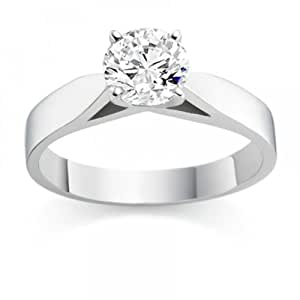 0.60 Carat D/IF Round Brilliant Certified Diamond Solitaire Engagement Ring in 18k White Gold