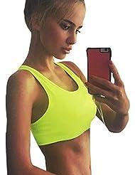 Musclealive gimnasio Mujeres Ropa Tank Tops entrenamiento de fitness Bra top 90% poliéster y 10% Spandex