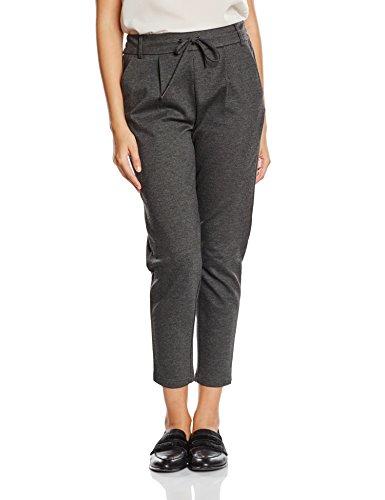 ONLY Damen Hose Onlpoptrash Easy Colour Pant Pnt Noos, Grau (Dark Grey Melange), 40/L30 (Herstellergröße: L)