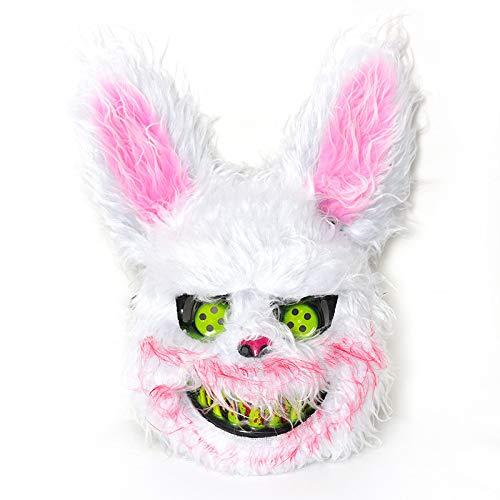 Hase Kostüm Frau - LX~Light Halloween Maske Kind Dame Blutig Plüsch Hase Simulation Tier Kopfbedeckung Maske Mama/Frau/Als zeigen