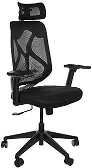 Amazon Brand - Solimo Elite High Back Mesh Office Chair (Black)