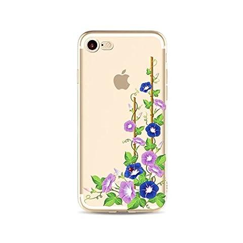 MUTOUREN iPhone 6 Plus/6S Plus TPU case cover, clear back case, ultra thin slim, durable flexible transparent, anti-scratch anti-slipping-Morning glory