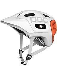 POC Trabec Race Casco da bici da uomo, Bianco/Arancione, M-L
