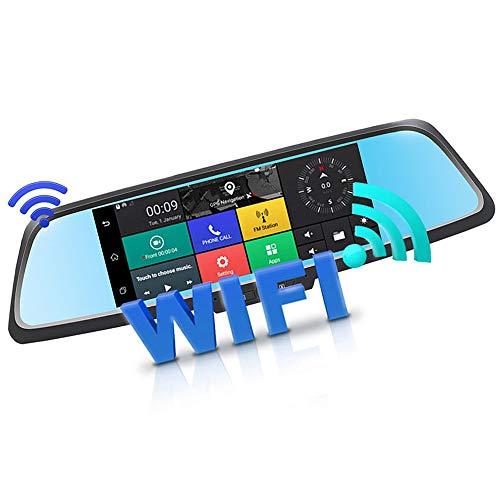 YUANLAISHINI 7 In HD IPS Touchscreen Autofahren Recorder Bluetooth WiFi Android Auto Rückspiegel Nachtsicht DVR Kamera mit G-Sensor, Loop-Aufnahme