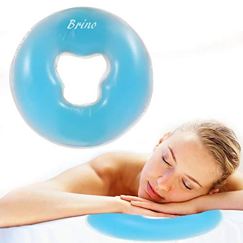 Silikon Kopfkissen Weiche Massage Gesicht Entspannen Kissen Kopfstütze, SPA Beauty Salon Hautpflege Weiches Überlagerungs Gesicht entspannen Wiegen Kissen Auflage(Himmelblau) (Massieren Bett, Kissen)