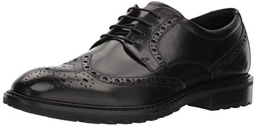 ECCO Herren VITRUSI Brogues, Schwarz (Black 1001), 47 EU Ecco Business Comfort