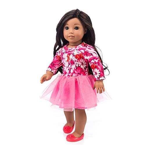 Zolimx Mode Schönes Puppenkleid für 18-Zoll--American Doll Baby Mädchen Puppen Zubehör Spielt Sommerkleidung