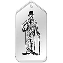 Azeeda 10 x 'Charlie Chaplin' Etiquetas claras DE 66 mm x 34 mm (TG00035017)