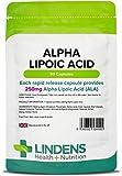 Lindens Capsule di acido alfa lipoico da 250 mg | 90 Confezione | Un acido grasso e un potente antiossidante utilizzato in ogni cellula dell'organismo