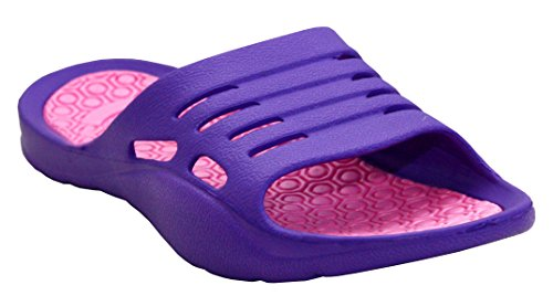 Womens Ladies Lightweight Slip On EVA Peep Toe Girls Summer Beach Pool Sliders Flip Flops Casual Mules Sandals Shoes UK Sizes 3-8