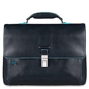 Piquadro Blue Square maletín fino expanible portaordenador concompartimento portaiPad®/iPad®Air – CA3111B2 (Azul oscuro)