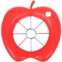 TOOGOO(R) Hoja de acero inoxidable de 8 piezas de fruta cuchillas de corte con forma de manzana pelador de la manzana corer