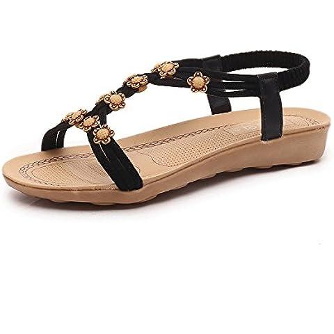 Fortan Scarpe Donna Slipper di perline Boemia sandali della spiaggia