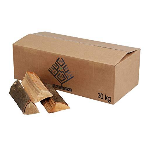 30kg Brennholz 100% Buche für Kaminofen, Ofen, Lagerfeuer, Feuerschalen, Opferschalen buchenholz kaminholz feuerholz Holz Krokwood Vorsicht vor...
