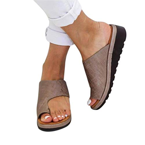 Ultimative Walking-schuh (PerfectWalk Orthopedic Premium Toe Corrector Sandals Bunion Splints,Damen Big Toe Hallux Valgus Unterstützung Plattform Sandale Schuhe Für Die Behandlung (39, Khaki))