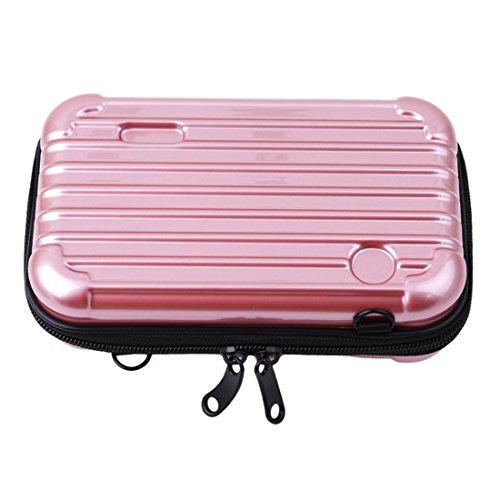 VWH Kofferraum Stil Kosmetiktasche Aufbewahrungstasche für Pinsel (Roségold) (Make-up Organizer Kofferraum)