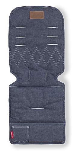 Maclaren - Colchoneta universal para sillas de paseo, Reversible, Lavable a máquina, Denim