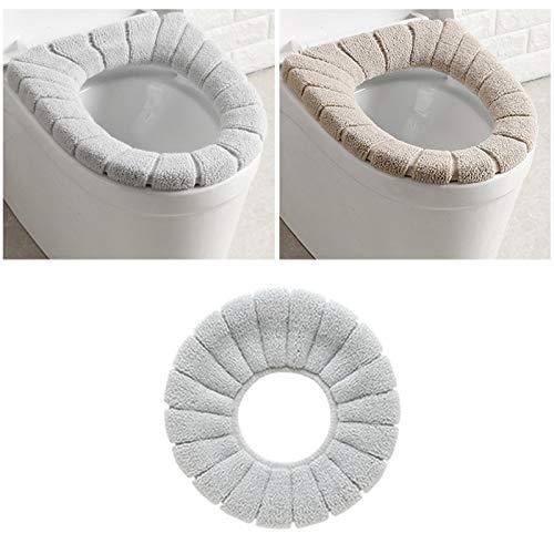 Merymall imbottitura coprischiuma per wc, coprischiena estraibile per sedile con coperchio lavabile