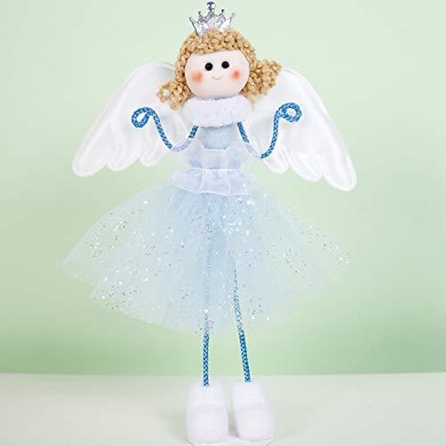 SLIJing 2019 Niedlicher Weihnachtsanhänger Engel Plüsch Puppe Baum Weihnachten Baumschmuck Deko Spielzeug Anhänger Bl -