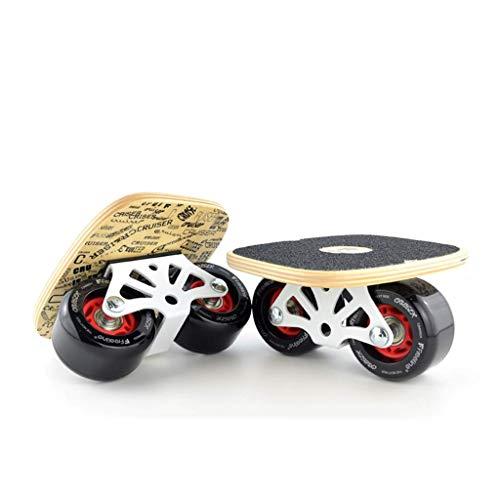 8bayfa Kinder geben Skates Cruiser Maximale 250kg Belastbarkeit Drift Skate mit Maple Pedal Verschleißfeste PU-Rad Geeignet for Smooth Kehren Straße Unisex (Color : B) -