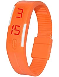 Snapcrowd-LED Orange Digital Watch For Kids Boys Men And Girls