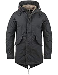 303ea76eadb3 JACK   JONES Jabari Men s Parka Outdoor Jacket Winter Coat With Teddy  Fleece With Hood Made
