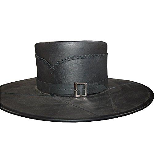 NASIR ALI Armour Kostüm Head N Home schwarz Leder handgefertigt Style aus reinem Leder Hat (Kostüm Dramen Besten)