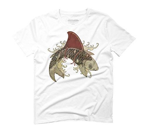 shark fin koi III Men's Graphic T-Shirt - Design By Humans White
