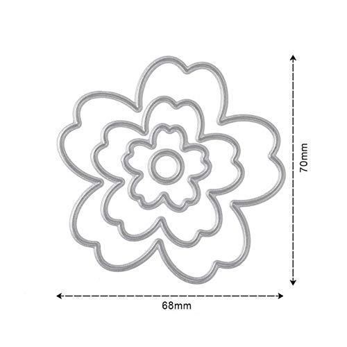 MHTEAAIIO 4 Teile/Satz Blume Metall Schneiden Stirbt Schablonen Für Scrapbooking Album Papier Karte DIY Handwerk Stanzen Vorlage Präge Stirbt -