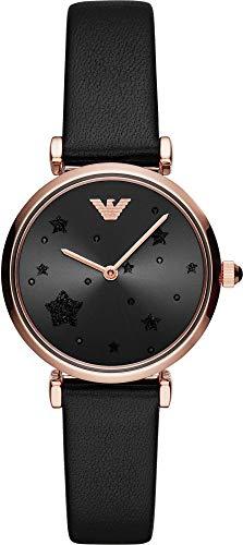 Emporio Armani Reloj Analógico para Mujer de Cuarzo con Correa en Cuero AR11225