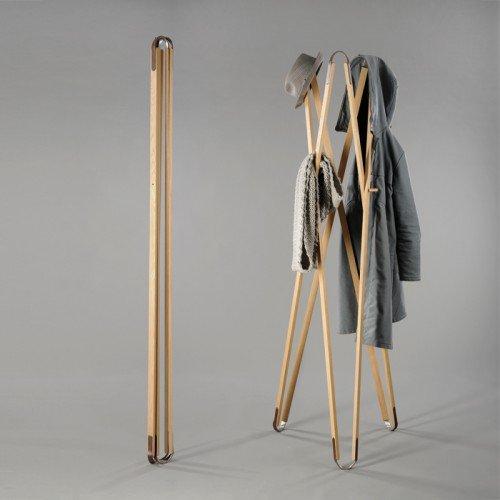 Garderobe X3 aus Holz, Eiche geölt