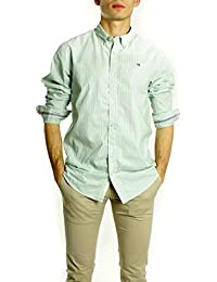 Scotch & Soda Camisa Oxford Lista Verde