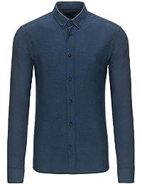 Mens Henri Lloyd Northwood Indigo Long Sleeve Shirt